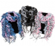 Ladies Ruched Multi Layer Scarf Available in 3 Colours. 49943